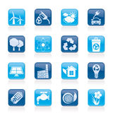 Ecology, environment and recycling icons Royalty Free Stock Image