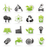 Ecology, environment and recycling icons Stock Photo
