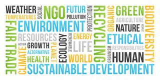 Ecology, Environment, Sustainable development - Word Cloud stock photography