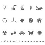 Ecology and Environment Symbols stock illustration