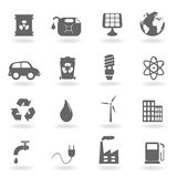 Ecology and environment symbols. Ecology and environment related icon set Stock Image