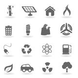 Ecology and environment symbols Stock Images