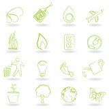 Ecology and environment symbols Royalty Free Stock Photos