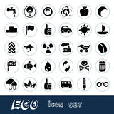 Ecology and environment web icons set Royalty Free Stock Image