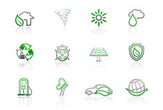 Ecology and environmental icons | Simple series 2 Stock Image