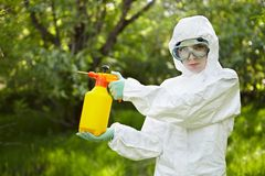Ecology and environmental pollution. Insecticide. Stock Photos