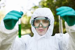 Ecology and environmental pollution.   Royalty Free Stock Images