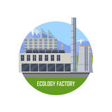 Ecology Factory Icon Stock Images
