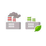 Ecology factory icon Stock Photo