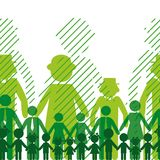 Ecology family background. Stock Photos