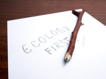Ecology first Royalty Free Stock Images