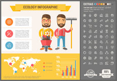 Ecology flat design Infographic Template Stock Photo