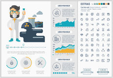 Ecology flat design Infographic Template Royalty Free Stock Photography