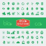 Ecology Flat Icon Set Royalty Free Stock Image