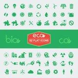 Ecology Flat Icon Set Royalty Free Stock Image