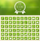 Ecology Flat Icon Set Stock Photos