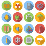 Ecology flat icons set Royalty Free Stock Image