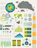 Ecology flat infographics Royalty Free Stock Image