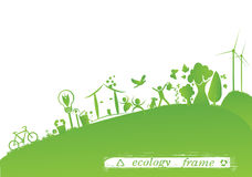 Ecology frame Stock Images