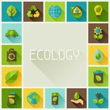 Ecology frame with environment icons. Stock Image
