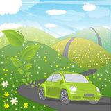 Ecology friendly car Stock Photo