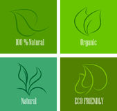 Ecology  friendly different icon set Royalty Free Stock Photo