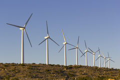 Ecology Friendly Wind Energy Stock Images