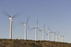 Ecology Friendly Wind Energy Stock Photo