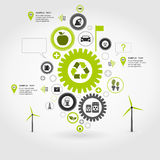 Ecology gear wheel. Ecology a gear wheel abstraction. A vector illustration Royalty Free Stock Images