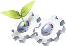 Ecology Gears Royalty Free Stock Photography