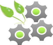 Ecology Gears Royalty Free Stock Photos