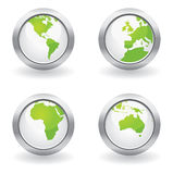 Ecology globe buttons Stock Images