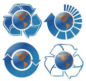 Ecology globes Stock Images