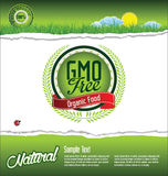 Ecology GMO free background Royalty Free Stock Image