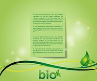 Ecology green background card Stock Photography