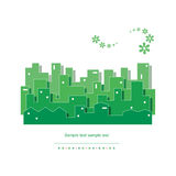 Ecology green cityscape  illustration Stock Photography
