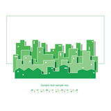Ecology green cityscape  illustration Royalty Free Stock Images