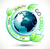 Ecology Green conceptual background Royalty Free Stock Images