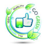 Ecology Green conceptual background Stock Photography