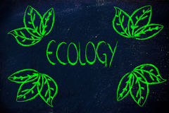 Ecology and the green economy Royalty Free Stock Photo