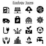 Ecology, Green Energy icon set Stock Photography