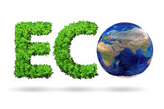 Ecology and green environment concept - 3D rendering Royalty Free Stock Photo