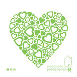 Ecology green hearts card Royalty Free Stock Photo