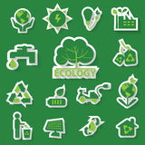 Ecology green icon. Set of ecology green icon, vector Stock Photo