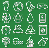 Ecology green icon Stock Images