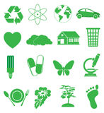 Ecology Green icons set Stock Photo