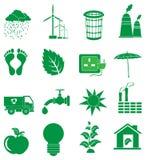 Ecology Green icons set Royalty Free Stock Image