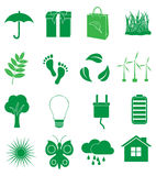 Ecology Green icons set Stock Photography