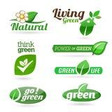 Ecology - Green - Renewable  icon set Royalty Free Stock Photo