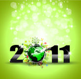 Ecology Green Themed Greetings. Background for New Year Posters royalty free illustration